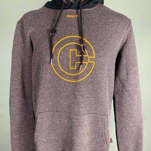 Cuzy T Men's Grey/Yellow Long Sleeve Winter Hoodie